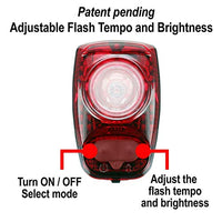 Cygolite Hotshot Sl– 50 Lumen Bike Tail Light– 6 Night & Daytime Modes– User Tuneable Flash Speed– Compact Design– Ip64