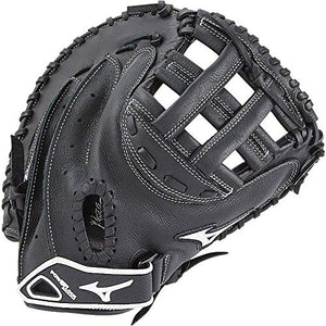 Mizuno Prospect Gxs102 Fastpitch Softball Catcher'S Mitts, Size 32.5, Black (Left Hand Throw )