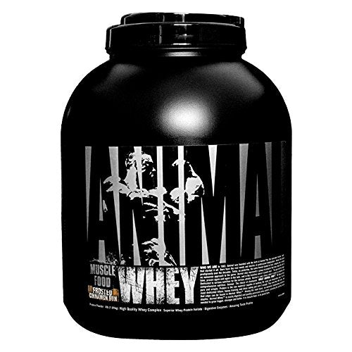 Universal Nutrition Animal Whey Isolate Loaded Whey Protein Powder Supplement, Frosted Cinnamon Bun, 4 Pound