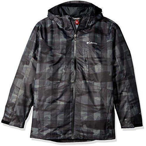 Columbia Men's Tall Whirlibird Interchange Jacket, X-Large/Tall, Black Camo