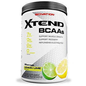 Scivation Xtend Bcaa Powder, 7G Bcaas, Branched Chain Amino Acids, Keto Friendly, Lemon Lime Squeeze, 30 Servings