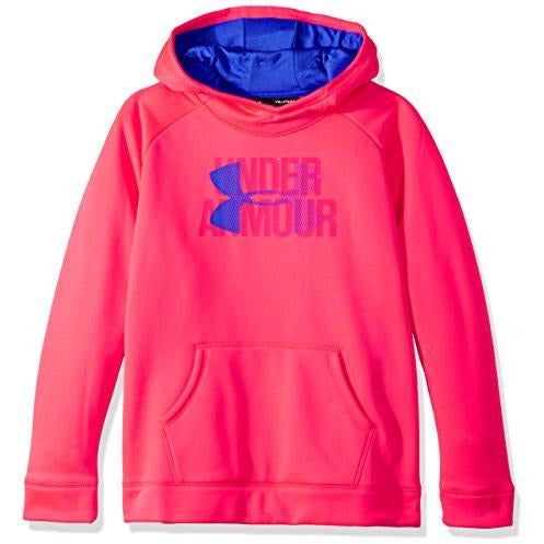 Under Armour Girls' Armour Fleece Big Logo Hoodie, Penta Pink , Youth Medium