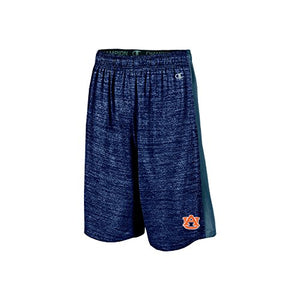 "Champion NCAA Auburn Tigers Boys 9"" Inseam Color Blocked Training Short with Pockets, Large, Navy"