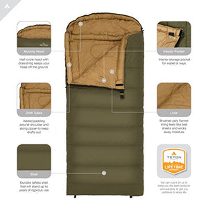 Teton Sports Celsius Regular Sleeping Bag; Great For Family Camping; Free Compression Sack