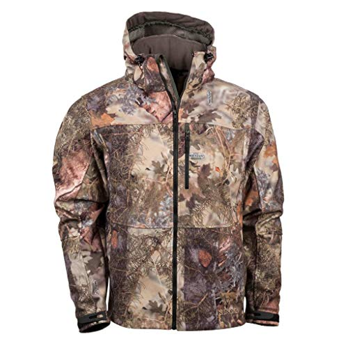 King's Camo Men's Mountain Shadow Wind-Defender Pro Fleece Jacket, Camo, X-Large