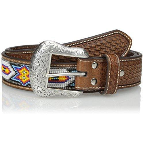 Nocona Belt Co. Men's White Tribal Bead, Tan, 32
