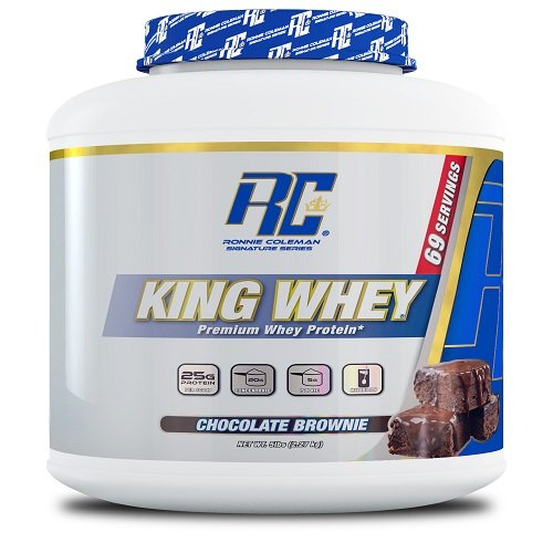 Ronnie Coleman Signature Series King Whey, Leading Whey Protein With Added Whey Isolate, Chocolate Brownie, 5 Pound