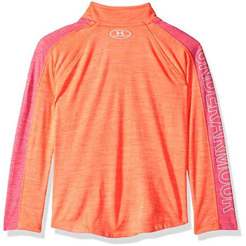 Under Armour Girls' Little Training 1/4 Zip Sweater, After Burn Tech, 5