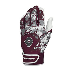 Demarini Digi Camo Ii Batting Gloves, Maroon, Xx-Large, Pair