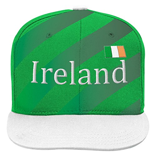 World Cup Soccer Ireland Mens -Jersey Hook Flag Snapback, Yellow, One Size