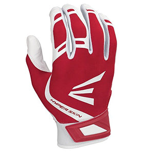 Easton Zf7 Vrs Hyperskin Fastpitch Batting Gloves, White/Red, Medium