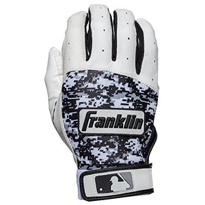 Franklin Sports Mlb Digitek Baseball Batting Gloves - Gray/White/Black Digi - Adult Large