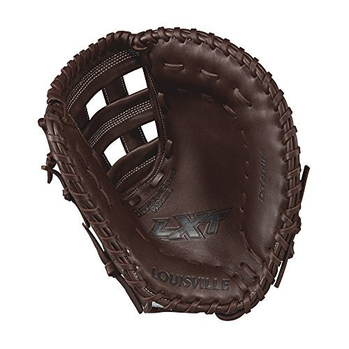 "Louisville Slugger Lxt First Base Gloves, Right Hand, 13"", Dark Brown/White"