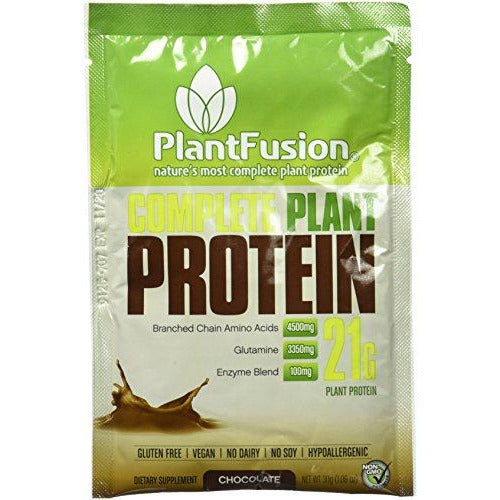 Plantfusion Complete Plant Based Protein Powder, Chocolate, Single Serving Packet, Single Sample, Gluten Free, Vegan, Non-Gmo, Pac