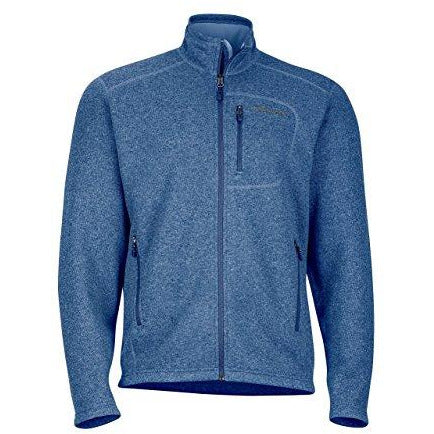 Marmot Men's Drop Line, Lightweight 100-Weight Sweater Fleece Jacket, Indigo Blue, Small