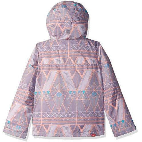 Roxy Little Jetty Girl Snow Jacket, Minimal Grey_Mosaic, 14/XL