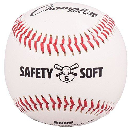 Champion Sports Soft Compression Baseball For Ages 7-10 (Pack Of 12), White/Red/Black