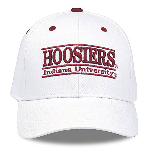 Ncaa Indiana Hoosiers Unisex Ncaa The Game Bar Design Hat, White, Adjustable