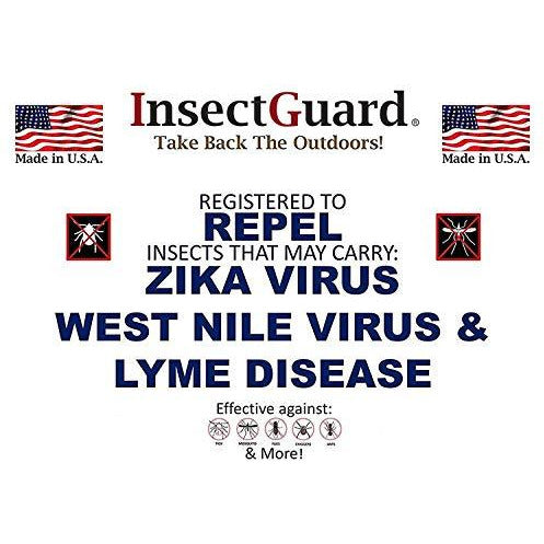 "InsectGuard - Permethrin Treated Tick & Mosquitoes Insect Repellent 7"" Long Pair of Sleeves/Gaiters (Black) One Size Fits All Up to Adult Medium"