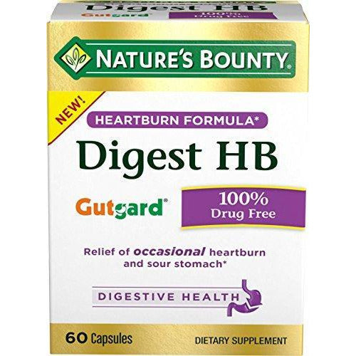 Nature'S Bounty Dietary Supplement Supports Digestive And Heart Burn Pills 60 Capsules