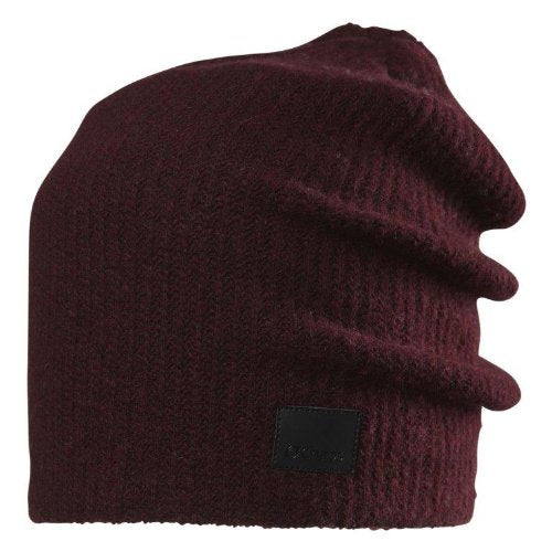 Chaos Marlon Cashmere Beanie, Wine, One Size