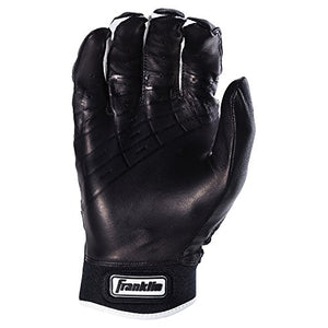 Franklin Sports Mlb Power Strap Batting Gloves, Black/Black - Youth Large