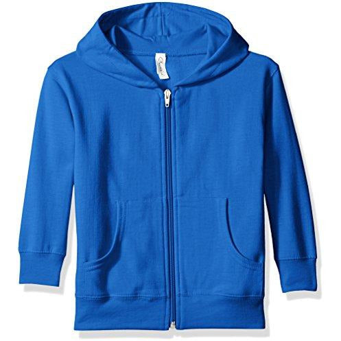 Clementine Little Girls' Toddler Full-Zip Fleece Hooded Sweatshirt, Royal, 4T