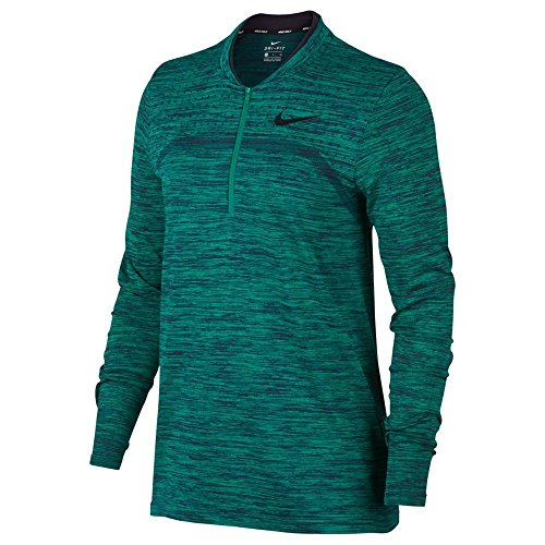 Nike Zonal Cooling Dry Half Zip Seamless Golf Pullover 2018 Women Neptune Green/Obsidian/Black Small