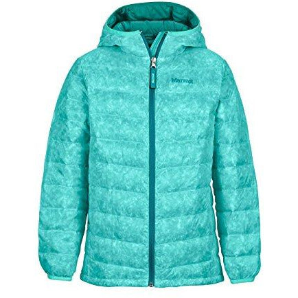Marmot Girls' Nika Down Puffer Jacket, Fill Power 550, Waterfall, Large