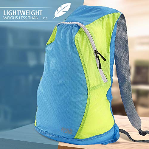 Lewis N Clark Electrolight Multipurpose Travel Lightweight Backpack For Women + Men Packable Daypack, Hiking Camping, Ditty Bag, B