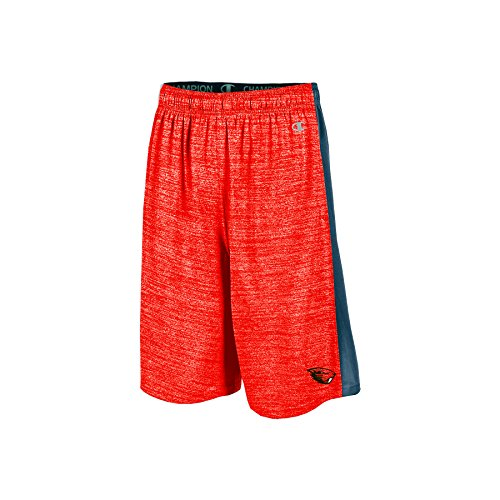 "Champion NCAA Oregon State Beavers Boys 9"" Inseam Color Blocked Training Short with Pockets, Medium, Orange"