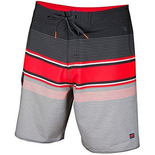 Cova Men'S Tidal High Performance Board Shorts, Black/Red, Size 38