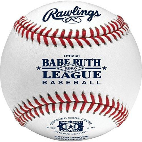 Rawlings Raised Seam Tournament Grade Babe Ruth League Baseball, 12 Count, RBRO