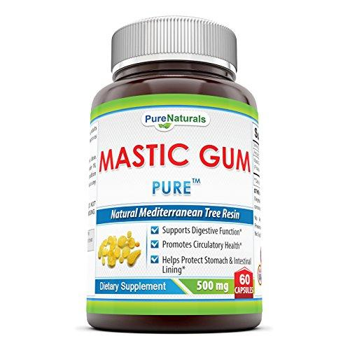 Pure Naturals Mastic Gum- 500 Mg 60 Capsules- Supports Digestive Function