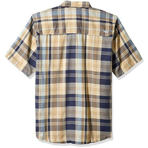 Mountain Khakis Men's Tomahawk Madras Shirt, Midnight Blue, Small