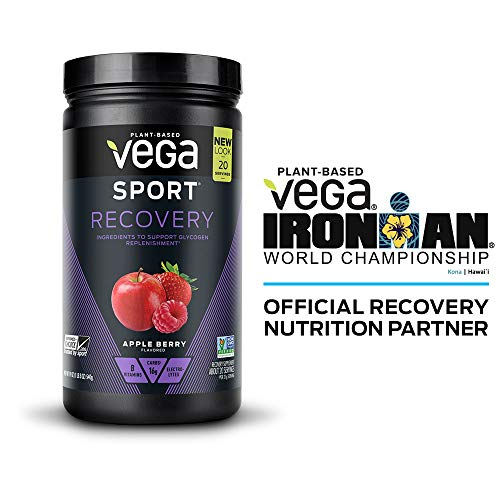 Vega Sport Recovery Apple Berry (20 Servings, 19Oz) - Vegan, Non Dairy, Gluten Free, Pre Workout Recovery, Bcaas, Non Gmo (Packagi