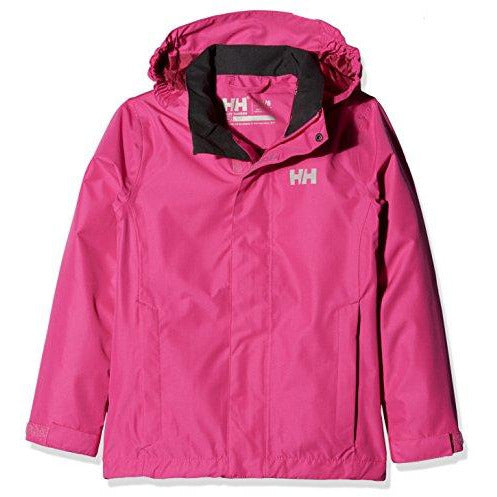 Helly Hansen Juniors & Kids Seven J Jacket Waterproof Windproof Breathable Rain Coat Jacket, 151 Very Berry, Size 12
