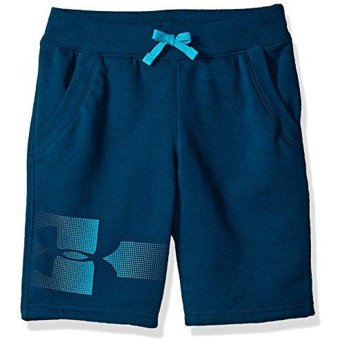 Under Armour Boys Rival Graphic Fleece Short, Techno Teal (489)/Deceit, Youth Large
