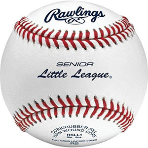 Rawlings Raised Seam Baseballs, Senior Little League Competition Grade Baseballs, Box of 12 , RSLL1