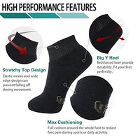 '+MD 6 Pack Womens Bamboo Ankle Socks Extra Heavy Full Cushion Quarter Socks Moisture Wicking Hiking Running Sports Socks 2Black2White2Grey9-11