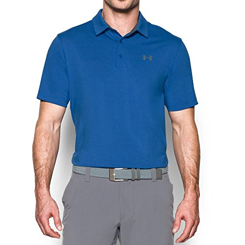 Under Armour Men's Playoff Vented Polo, Blue Marker /Graphite, Medium