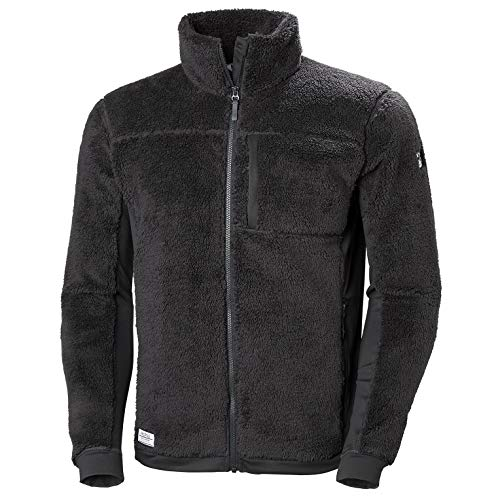 Helly Hansen Men's Juell Soft Warm High Loft Pile Fleece Jacket, 980 Ebony, XX-Large