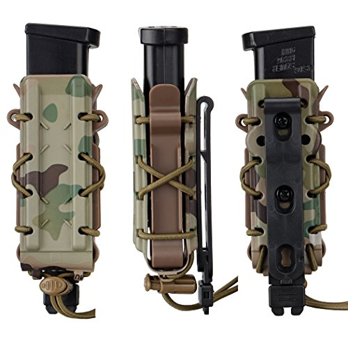 IDOGEAR Mag Pouch 9mm Pistol Magazine Pouches Molle Tactical Airsoft Poly Mag Carrier Hunting Equipment Holder (A. Multicam)