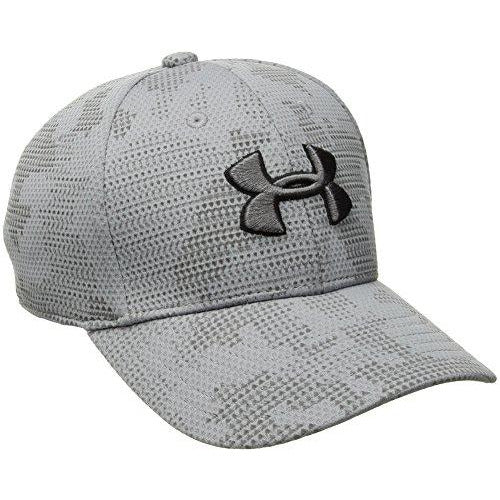 Under Armour Boys' Printed Blitzing Cap, Steel (036)/Graphite, Youth Small/Medium