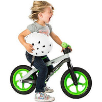 Chillafish Bmxie-Rs: Bmx Balance Bike With Airless Rubberskin Tires, Lime (Man On The Moon)