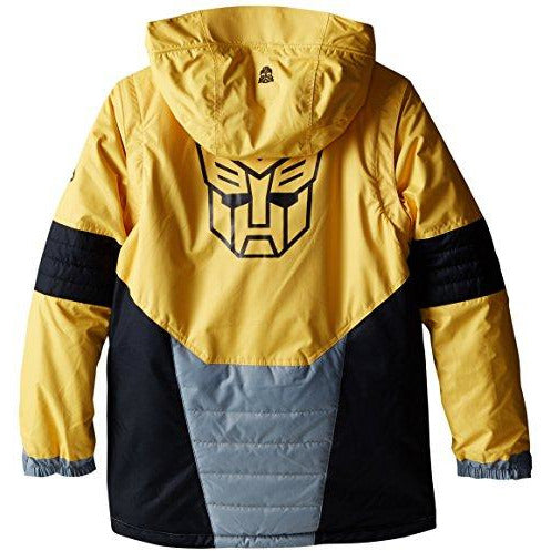 686 Boy's Transformer Autobot Jacket, Large, Bumble Bee Yellow