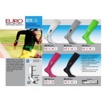 Eurosocks Patented Recovery Graduated Compression Socks, Silver, X-Small