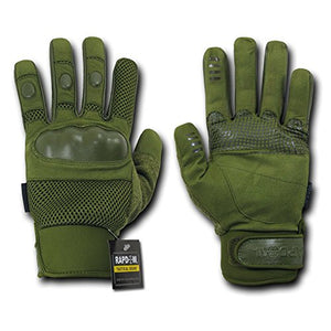 Rapdom Tactical Pro Tactical Gloves, Olive Drab, X-Small