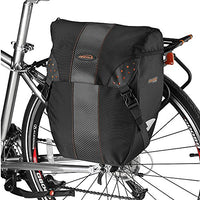 Ibera Bicycle Bag Pakrak Clip-On Quick-Release All Weather Bike Panniers (Pair), Includes Rain Cover
