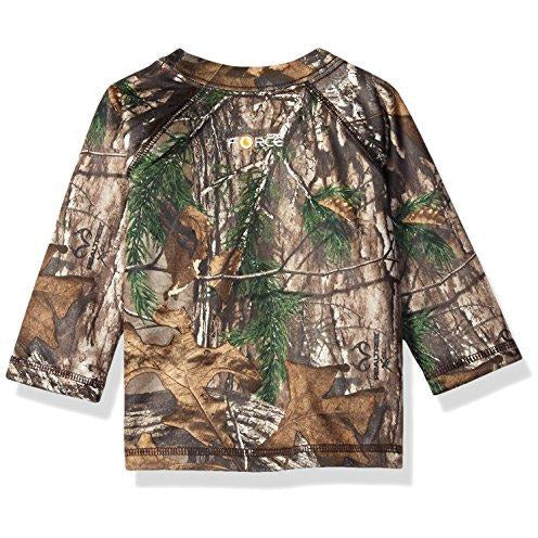 Carhartt Baby Boys' Long Sleeve Force Tee, Realtree Xtra Brown, 3 Months